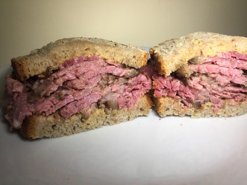The O.G. - classic pastrami sandwich on rye deli