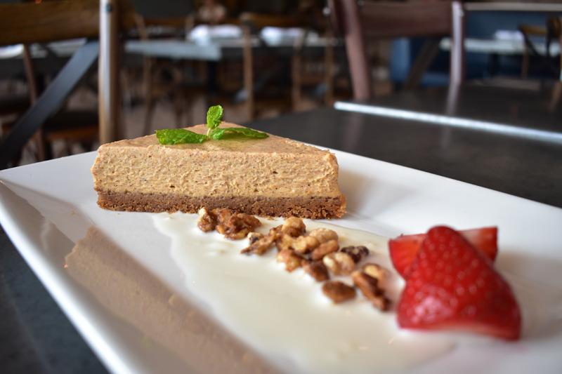 Pumpkin Cheesecake with ricotta cream, and a biscotti crust | Photo Credit Bettolino Kitchen