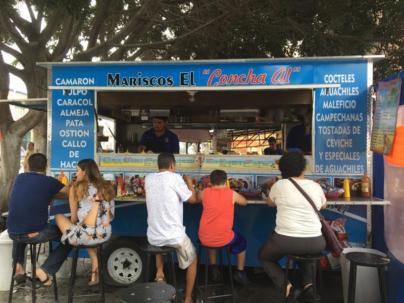 A popular place for mariscos called El Paisa - Tijuana