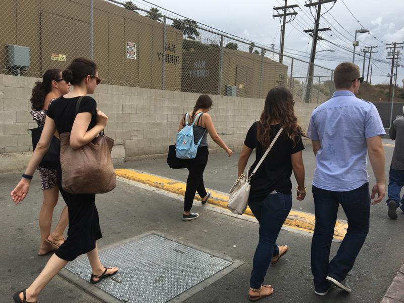 Walking to Tijuana using the San Ysidro border crossing. - Tijuana