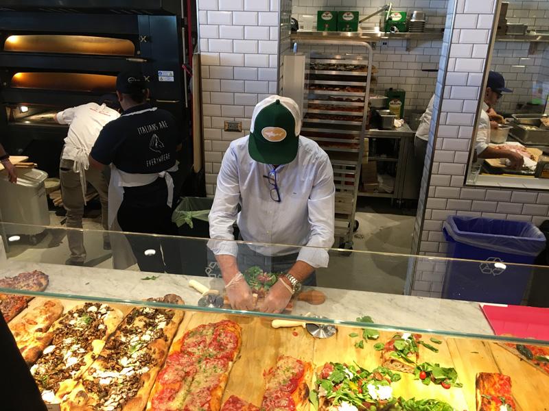Making Roman-style pizza - Eataly