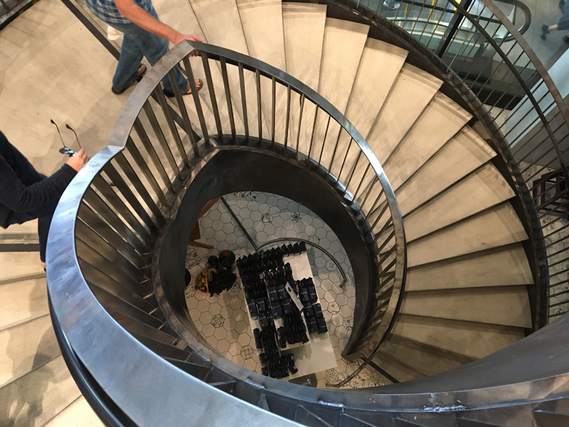 Spiral staircase leading to the marketplace - Eataly