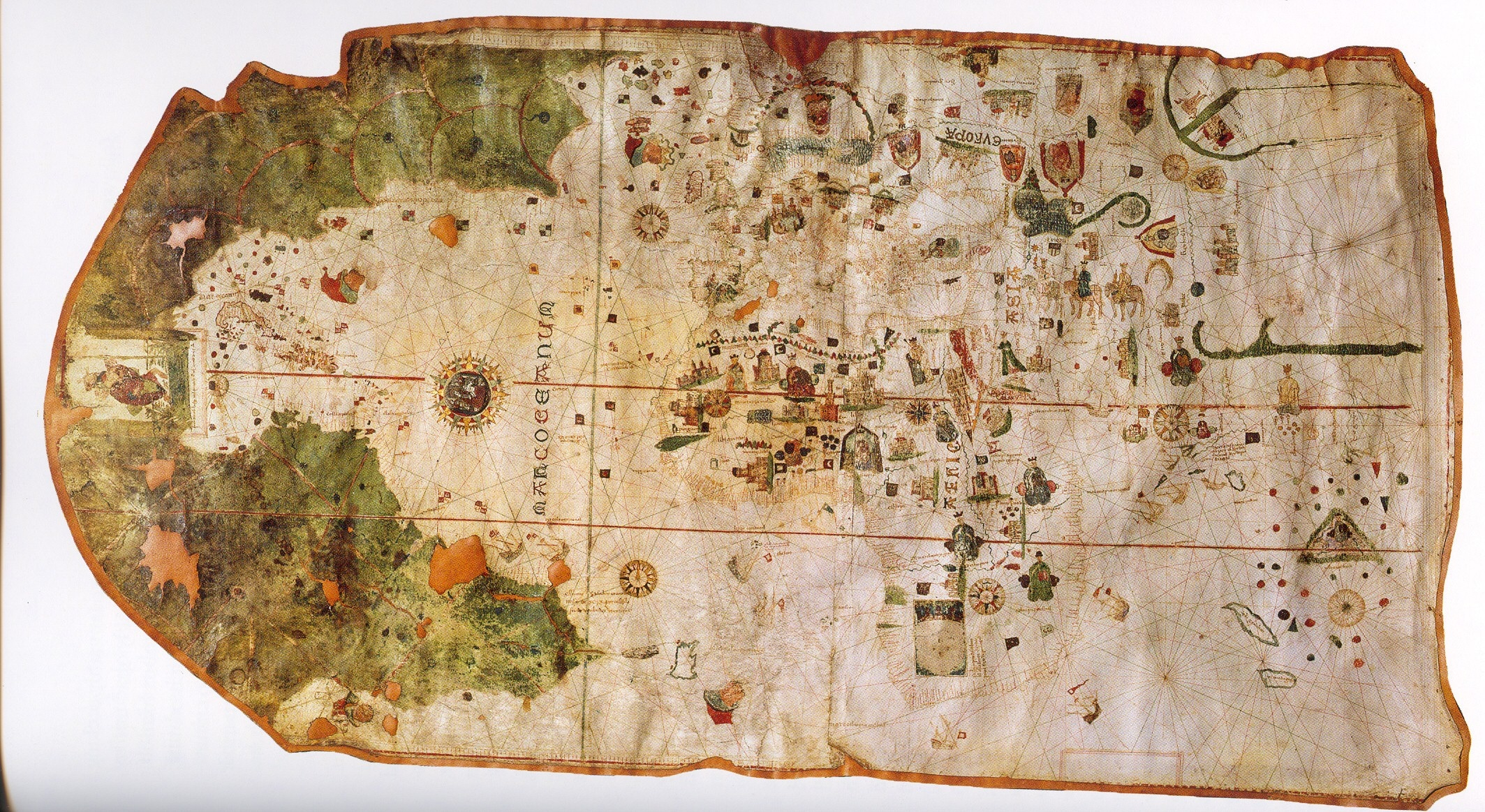 1500 map created by Juan de La Cosa