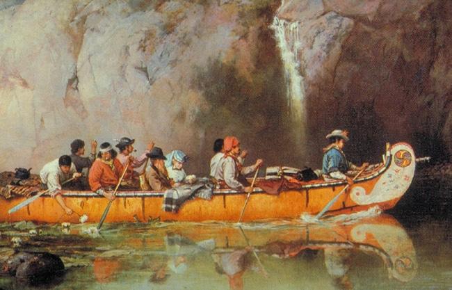fur_traders in canoe