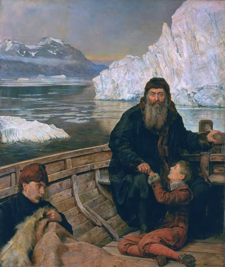 The last voyage of Henry Hudson *oil on canvas *214 x 183,5 cm *before 1881