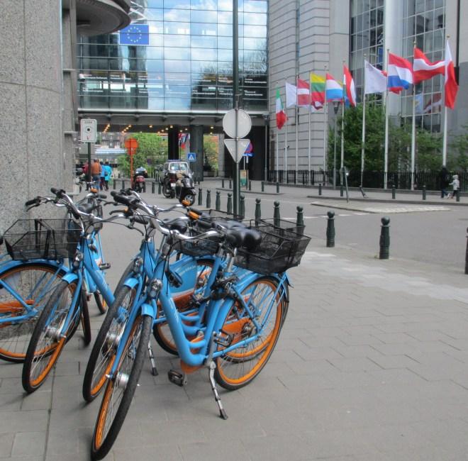 Blue Bikes at the European Parliament