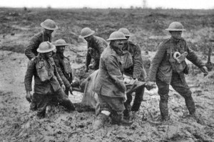 Stretcher bearers at Passchendaele, August 1917