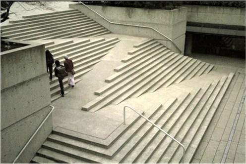 Wheelchair ramp at EU Parlamentarium in Brussels