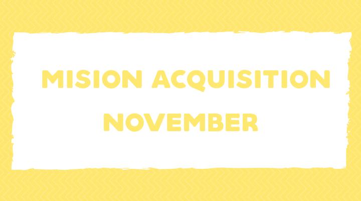 Mission Acquisition: November Language Goals