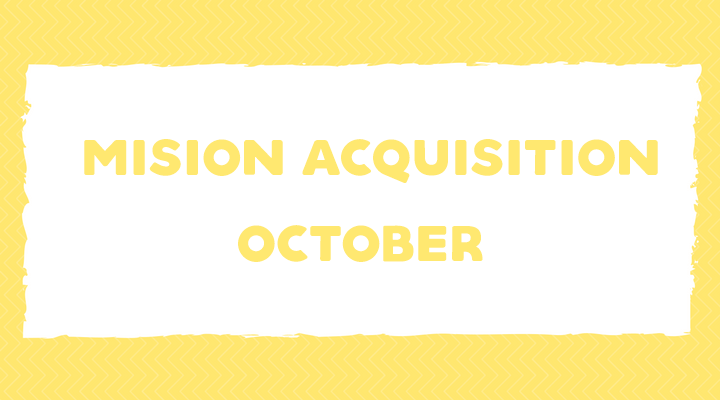 Mission Acquisition: October Language Goals