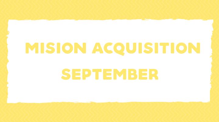 Mission Acquisition: September Language Goals