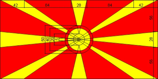 proportions of the Macedonian flag
