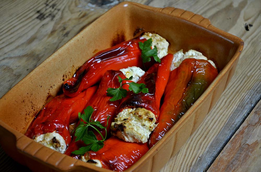 Macedonian Food Stuffed Peppers