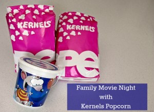 Family Movie Night with Kernels Popcorn {Giveaway}