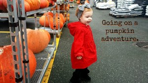 Going on a pumpkin adventure.