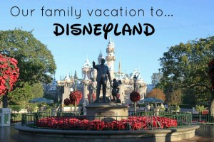 Family Vacation to Disneyland