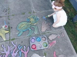 DIY: Sidewalk Chalk Paint