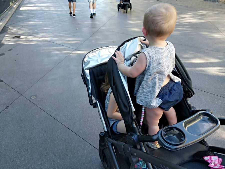 Strollers in Disneyland