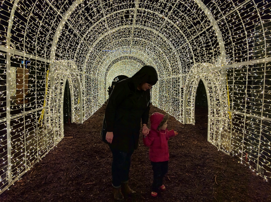 Enchant Christmas in Vancouver, light tunnel