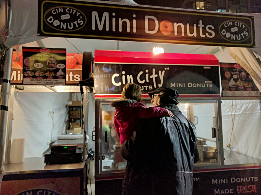 Enchant Christmas in Vancouver, mini donut truck