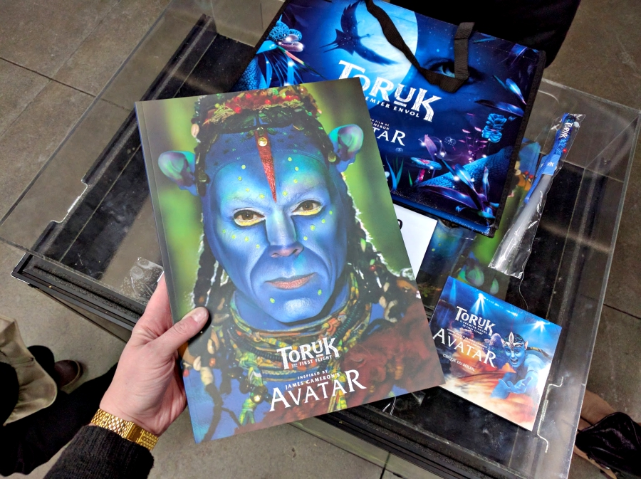 Cirque Du Soleil TORUK program, soundtrack, and light merchandise