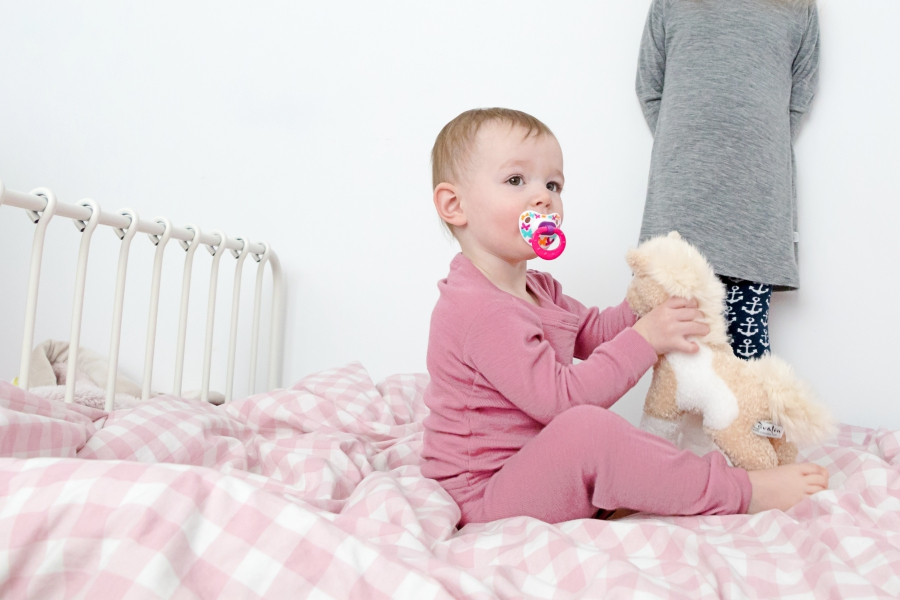 Simply Merino thermal merino wool pyjamas in rose