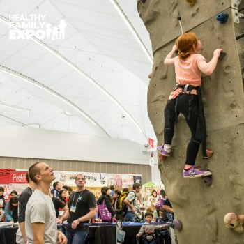 Healthy Family Expo: climbing wall