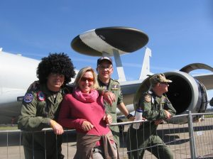 54 Squadron RAF E3 Sentry and crew at NATO Days 2012 Ostrava Czech Republic