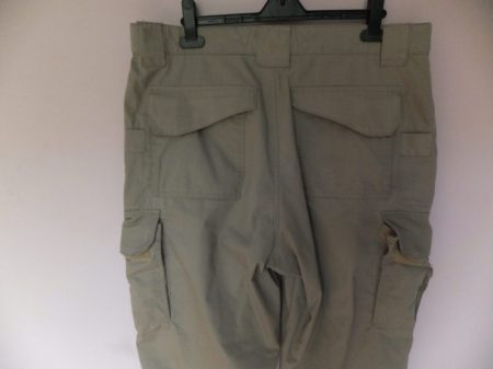 Tru-Spec 24-7 trousers. Close-up of rear with a better view of seam quality and small side pockets for small objects such as mag-lites.