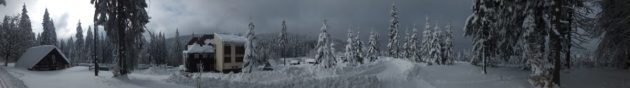 Cross-country skiing, Bumbalka, Beskydy Mountains, Czech Republic, Europe.