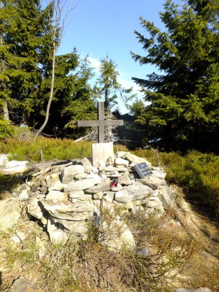 The Jan Palach Memorial on Smrk. Hiking trips in the Czech Republic - Smrk (Spruce Mountain)