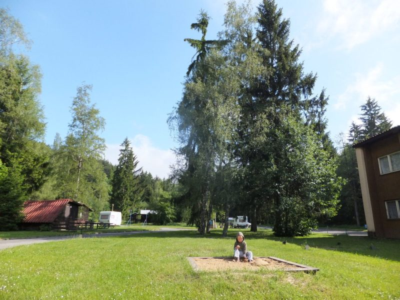 There's a play-area for children... Czech camping