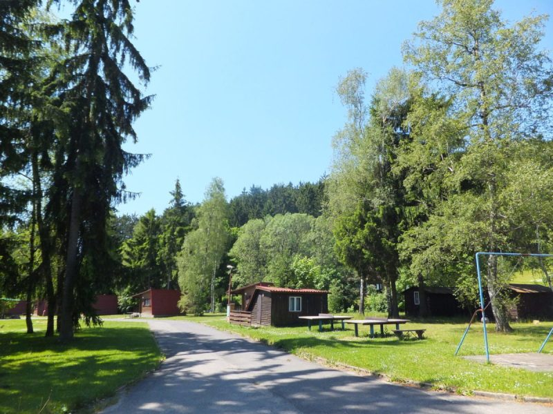 Shady trees and modest chalets for the less adventurous. Czech camping.