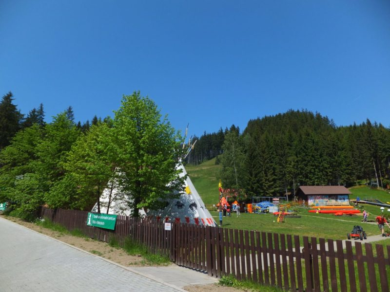 The local Tourist Information Office is based here, as well as a great playground for the kids. Czech camping.