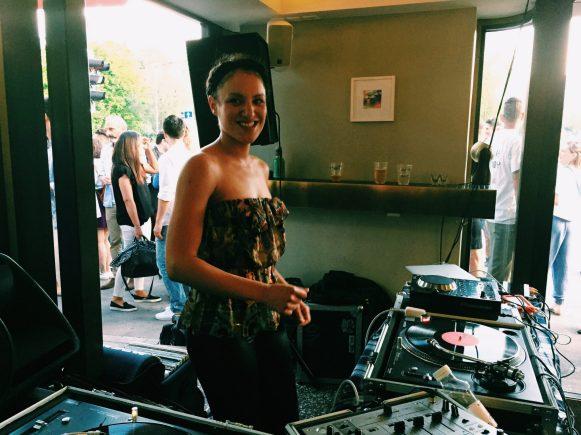 DJ Myriam Walser spinning
