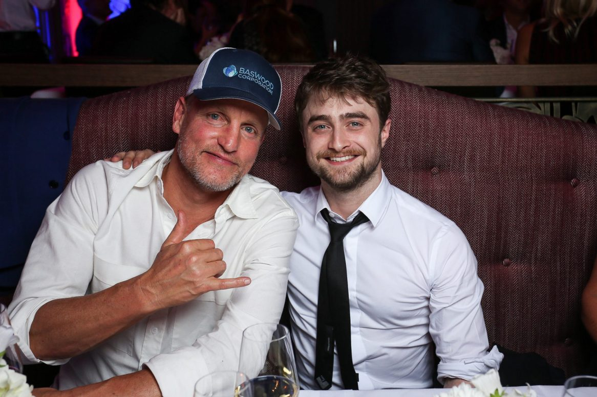 Woody Harreldson and Daniel Radcliffe at the Tommy Hilfiger Dinner