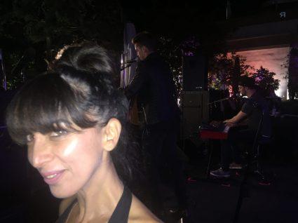 Bastian Baker in the backdrop