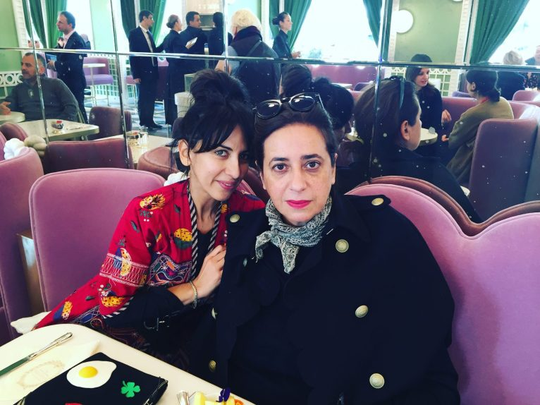 India and I at opening of Ladurée in Geneva
