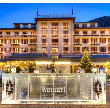 Winter Adventure | Ruinart Ice Bar, Grand Hotel Zermatterhof | Food and Travel, Travel | Discover Out Loud