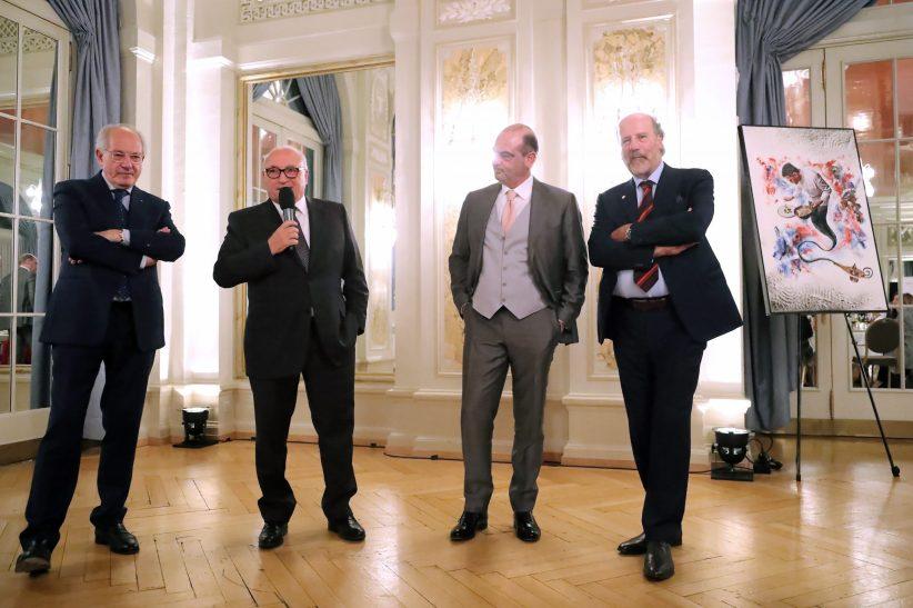 The Winemakers Claudio Tamborini, Feliciano Gialdi, Guido Brivio, Angelo Delea (FLTR).