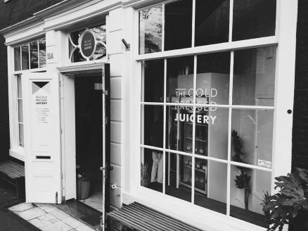 cold pressed juicery - a new and rapidly growing trend in town (try the smoothie!)