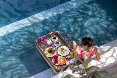 Villa Seriska Bali Pool breafast