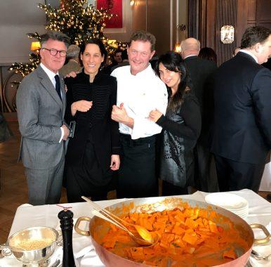 Clifford Lilley, Evelyn Gorgos, Chef Enrico Cerea and me