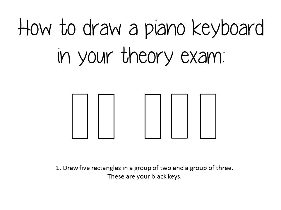 How To Draw A Piano Keyboard In Your Theory Exam Discover Singing
