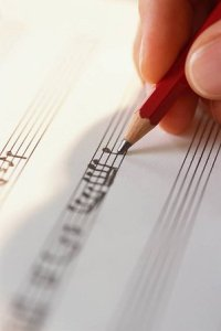 Writing Musical Notes in Pencil