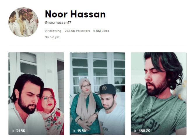 Noor Hassan on Tiktok