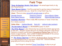 ...and Field Trip suggestions.