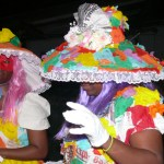 Paper dolls masquerade at Tobago Carnival in Scarborough. Photographer: Onika Henry
