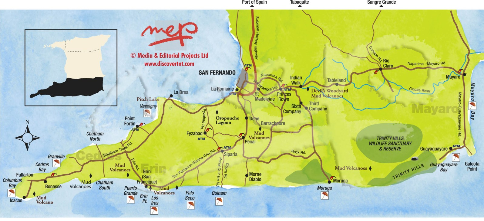 South Trinidad Map. Copyright MEP Publishers 2013