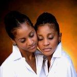 The twins. Courtesy Karen & Kathy Norman/K2K